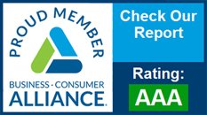AAA Rating with Business Consumer Alliance